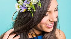 Floral Crown Crafts, diy craft for kids Types Of Flowers, Diy Flowers, Fresh Flowers, Purple Flowers, Wedding Flowers, Fabric Flowers, Floral Wedding, Diy Flower Crown, Diy Crown
