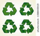creative recycle icon