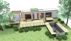 CASAS CONTENEDORES: Casas contenedores: diseño de estudio y piscina hechos con contenedores