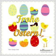 Über einen netten Ostergruß freut sich jeder! Kostenlos unter www.tellheaven.com