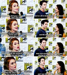 #TeenWolf cast - Dylan O´Brien and Holland Roden