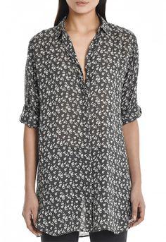 The OVERSIZED Shirt - Women's shirt - EXTRA LONG SHIRT - Floral Leo Dark - MiH