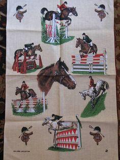 equestrian tea towel from paddyridge