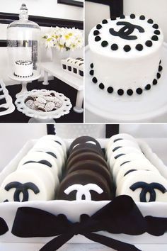 Coco Chanel Cake Topper | Coco Chanel Party Favors | Coco Chanel Inspired Dessert Table {30th ...