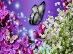 Dainty Fluttering amongst beautiful flora. - Desktop Nexus Wallpapers
