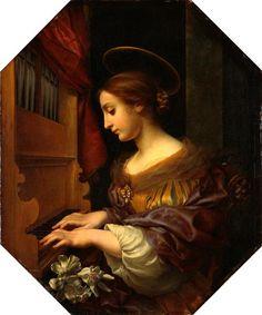 Saint Cecilia / Die heilige Cäcilie // circa 1670-1672 // Carlo Dolci // Gemäldegalerie Alte Meister // © Staatliche Kunstsammlungen Dresden