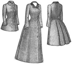 Sewing pattern victorian dress patterns Craft Supplies   Bizrate-Truly Victorian Las 1880's late Bustle Coat pattern by 1aokgal