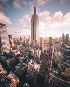 Empire State Building by Ivan Wong - The Best Photos and Videos of New York City including the Statue of Liberty, Brooklyn Bridge, Central Park, Empire State Building, Chrysler Building and other popular New York places and attractions. Empire State Building, Travel The World Quotes, Travel Quotes, Landscape Arquitecture, Voyage New York, City Vibe, New York City Travel, City Aesthetic, Dream City