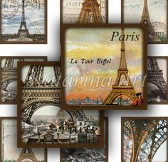 Paris vintage postcard. Paris Chic, French Kiss, Vintage Paris, Tour Eiffel, Parisian Style, Vintage Pictures, Print Pictures, Paris France, Postcards