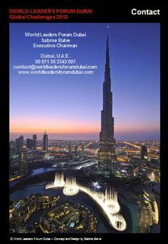 World Leaders Forum Dubai - Contact