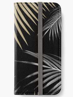 """""""Gold Gray Palm Leaves Dream #1 #tropical #decor #art"""" iPhone Wallets by anitabellajantz 