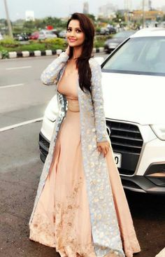 Dresses - Image may contain 1 person, standing, wedding and outdoor Indian Designer Outfits, Indian Outfits, Designer Dresses, Indian Attire, Indian Wear, Indian Gowns, Pakistani Dresses, Trendy Dresses, Fashion Dresses