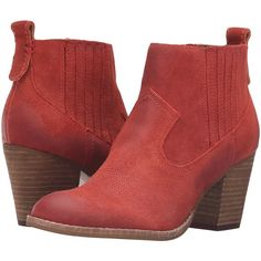 Dolce Vita Jones (Red Suede) Women's Boots ($85) ❤ liked on Polyvore featuring shoes, boots, ankle booties, ankle boots, red, suede bootie, bootie boots, red boots, dolce vita bootie and short boots