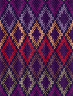 Style Seamless Color Knitted Ornament Pattern