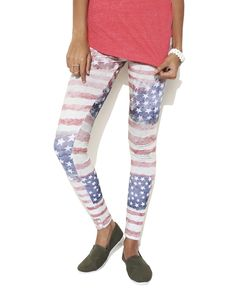 Distressed Americana Legging from Wet Seal