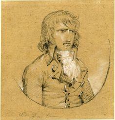 Portrait de Saint-Just de la fin du XVIIIe siècle. By the department of Aisne archives