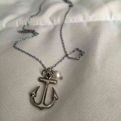Pearl anchor necklac… ($26) is on sale on Mercari, check it out! https://item.mercari.com/gl/m325362331/