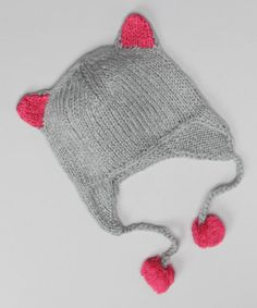 Take a look at this Gray Kitty Earflap Beanie - Women & Kids by MUK LUKS on #zulily today!