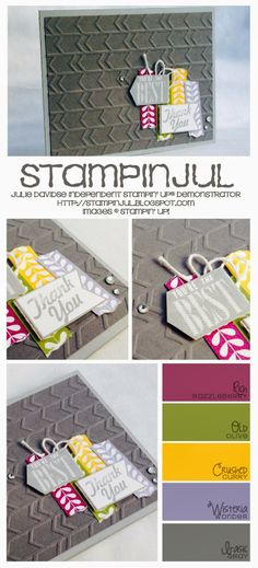 Stampinjul-Julie Davidse Stampin' Up! Demonstrator: You're the Best...Thank You! #stampinup #stamping #papercrafting