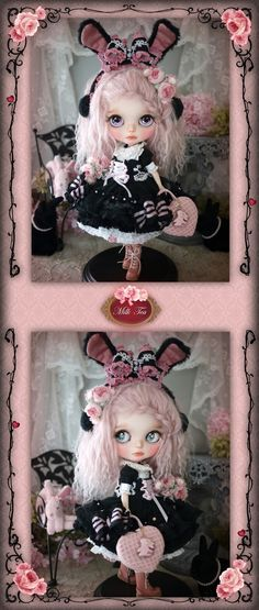 Blythe Dolls, Barbie Dolls, Custom Dolls, Toy Boxes, Ball Jointed Dolls, Beautiful Dolls, Plushies, Projects To Try, Kawaii