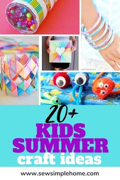 Great list of easy summer crafts for kids for ages 7 to Perfect for teens, tweens and in betweens. Diy Crafts For Kids Easy, Summer Crafts For Kids, Summer Activities For Kids, Summer Kids, Fun Crafts, Kids Diy, Diy Kaleidoscope, Ladybug Crafts, Creative Kids