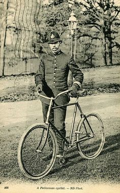 """Some cops do not get cars right away. They must work hard and be awarded the policeman's car. These """"newbees"""" must ride around on bicycles or horses."""