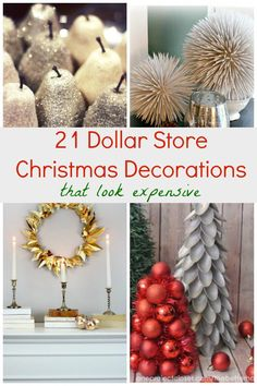 DIY and Crafts. 21 Dollar Store Christmas Decorations That Look Expensive