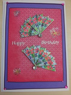 Card made with stickers on acetate coloured with gel pens