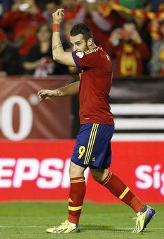 2013-10-15 Spain vs Georgia at the Carlos del Monte stadium in Albacete on October 15, 2013 #Negredo