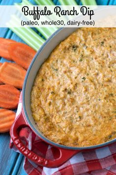 Paleo Buffalo Ranch Dip. Great, gluten-free appetizer for a gameday watch parties! A favorite recipe for paleo and non-paleo eaters!