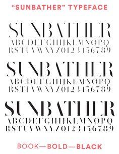 "Image of The ""SUNBATHER"" Typeface"