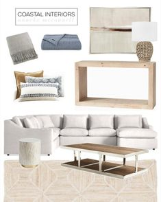LIKEtoKNOW.it Coastal Homes, Coastal Living, Home Living Room, Living Room Decor, Decor Interior Design, Interior Decorating, Beach House, Throw Pillows, Bed
