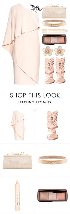 """Cocktail dress"" by simona-altobelli ❤ liked on Polyvore featuring Givenchy, Giuseppe Zanotti, Judith Leiber, Chanel, L'Oréal Paris, Hourglass Cosmetics, Mixit, MyStyle and polyvorecontest"