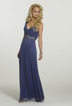 Prom Dresses 2013 - Mesh Cowl Neck Long Dress from Camille La Vie and Group USA
