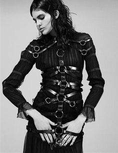 "Leather bondage corset ""MELISSA STASIUK HAS GRACE WITH EDGE FOR BENNY HORNE'S…"