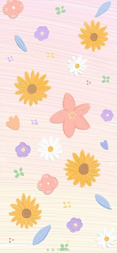 Look Wallpaper, Cute Pastel Wallpaper, Flower Phone Wallpaper, Cute Patterns Wallpaper, Iphone Background Wallpaper, Painting Wallpaper, Kawaii Wallpaper, Pastel Wallpaper Backgrounds, Cute Pastel Background