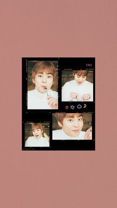 Exo Xiumin, Aesthetic Wallpapers, Chibi, Polaroid Film, Rainbow, Frame, Xiu Min, Phone, Rain Bow