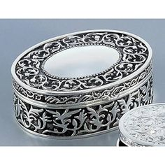 Ornate Oval Jewelry Box - 4.75W x 1.75H in.   www.jewelryboxes.com ** I already have this, would love to get matching ones for the girls too!!