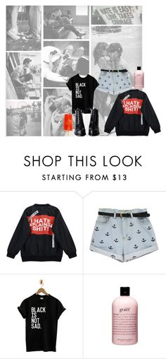 """""""black and white lovers"""" by enjoyrosa ❤ liked on Polyvore featuring Noah, Chicnova Fashion and philosophy"""