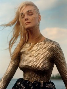 Caroline Trentini for Vogue US December 2015 by Jamie Hawkesworth