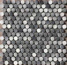 Gray Penny Round Tile Light Grey Gradient Dark Gray