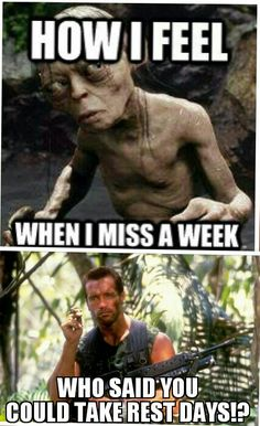 I never miss a week thow. But i know how that would feel