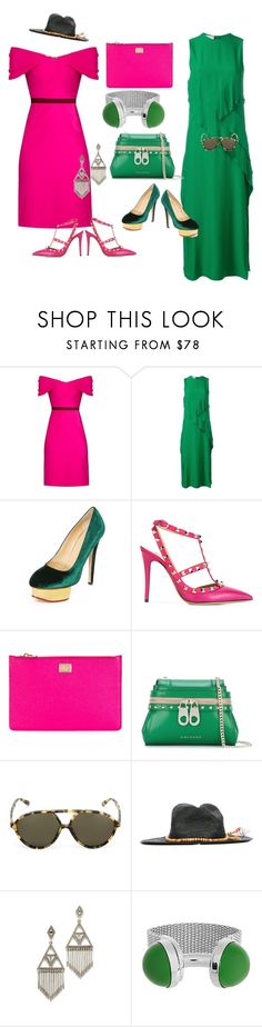 """""""Perfect matching..."""" by jamuna-kaalla ❤ liked on Polyvore featuring Emilio De La Morena, Cédric Charlier, Charlotte Olympia, Valentino, Dolce&Gabbana, Twin-Set, Sensi Studio, House of Harlow 1960, Balenciaga and vintage"""