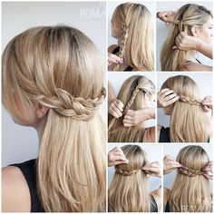 would be cute with a low bun under the braids... hair design | We Heart It