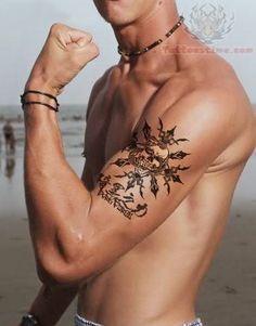 c5f086da34b1d Muscular Guy Showing His Bicep Tattoo Filipino Tribal Tattoos, Skull Tattoos,  Bicep Tattoos,