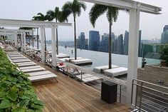 Infinity Pool at Skypark in Singapore