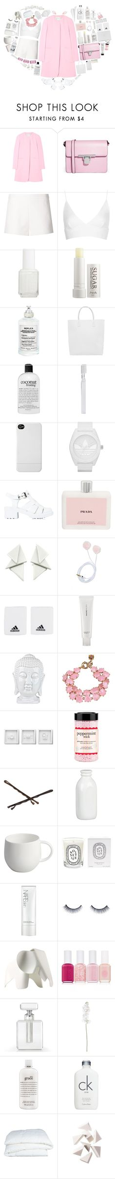 """Happy Valentines day! <3"" by puhizaxox ❤ liked on Polyvore featuring ASOS, Bless'ed Are the Meek, Topshop, Essie, Fresh, Maison Margiela, Happy Socks, philosophy, Supersmile and Incase"