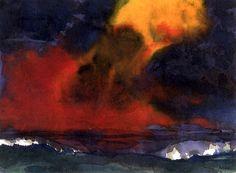 Sea and Stormy Sky Emil Nolde - circa 1925-1930