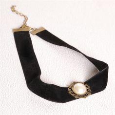 Black Tattoo Choker Necklace Women Jewelry Elastic Adjustable