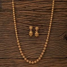 Antique Gold Matar Mala/ Indian Necklace/ Indian Long Necklace/ Long Gold Necklace/ Indian Jewelry/ Indian Necklace/ Punjabi Jewelry - New Ideas Gold Chain Design, Gold Bangles Design, Gold Earrings Designs, Indian Necklace, Indian Jewelry, Gold Jewelry Simple, Schmuck Design, Jewelery, Jewelry Clasps